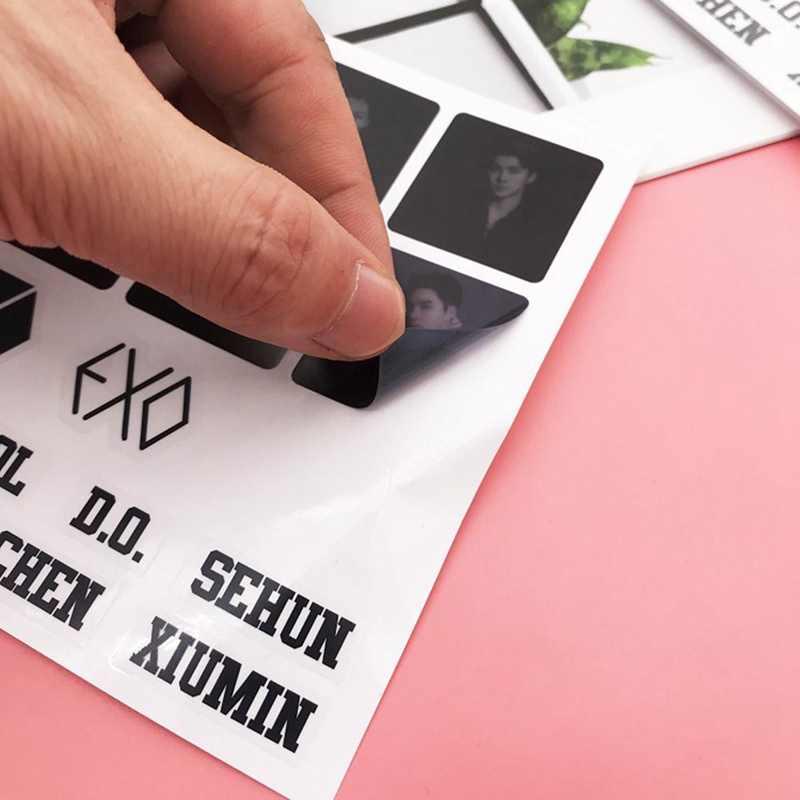Exo planet #5 5 투어 콘서트 chanyeol d.o. 백현 sehun lay suho xiumin 투명한 스티커 sticking figures new