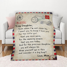 Sherpa Blanket Christmas-Gift Home-Textiles Print Daughter Letter Express Bed 3D on QW85
