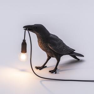 Настольная лампа в виде птицы, итальянский светодиодный светильник в форме селетти, настольная лампа в виде животного, удача, птица, гостина...