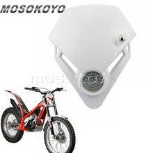 Farol led para motocicleta com entrada enduro, versão para gás txt pro ec 280 125 250 300 branco