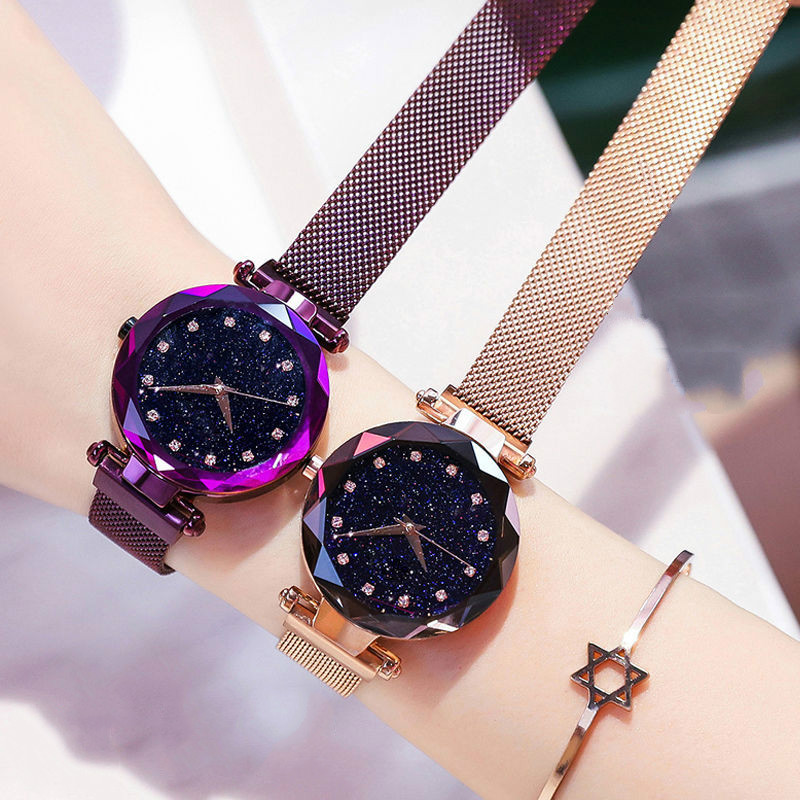 Hf4a63a7475ed46d7bbd0f804221c50c54 Luxury Women Watches Ladies Magnetic Starry Sky