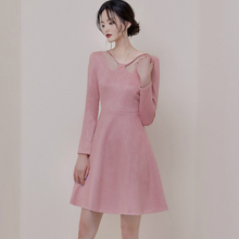 New Arrival Women Sexy Bodycon Ladies Dress Brief Suede Pink for Corset Long Sleeve Casual Elegant Plus Size