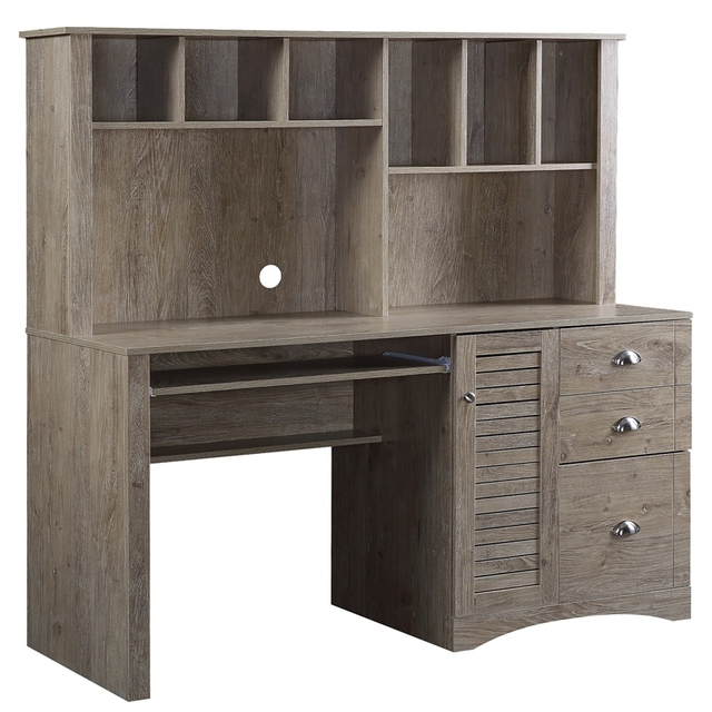 Home Office Computer Desk with Hutch and Drawers 1