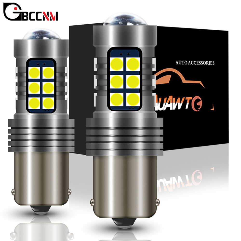 2PCS For <font><b>Peugeot</b></font> 3008 <font><b>206</b></font> 207 308 CC SW 407 SW Coupe 4008 607 1156 BA15S P21W <font><b>LED</b></font> Car Tail Bulb Brake Light Backup Reverse Light image