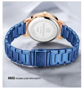 Image 4 - NAVIFORCE Women Watches Top Brand Luxury Ladies Wristwatch Stainless Steel Classic Bracelet Female Clock Relogio Feminino 5008