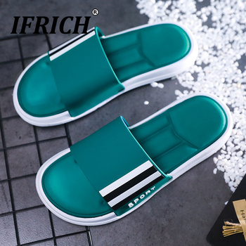 2019 Summer Man Soft Bottom Slippers Brand Designer Beach Casual Shoes Anti Slip Indoor Shower Slippers Mens Comfort Slippers 2020 summer cool rhinestones slippers for male gold black loafers half slippers anti slip men casual shoes flats slippers wolf