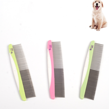 Metal Comb for Dogs Stainless Steel Pet Dog Cat Pin Comb Hair Brush Hairbrush Flea Comb Dogs Cats Pets Acessorios Pet Grooming pet hair deshedding dog cat brush comb sticky hair gloves hair fur cleaning for sofa bed clothe pets dogs cats cleaning tools