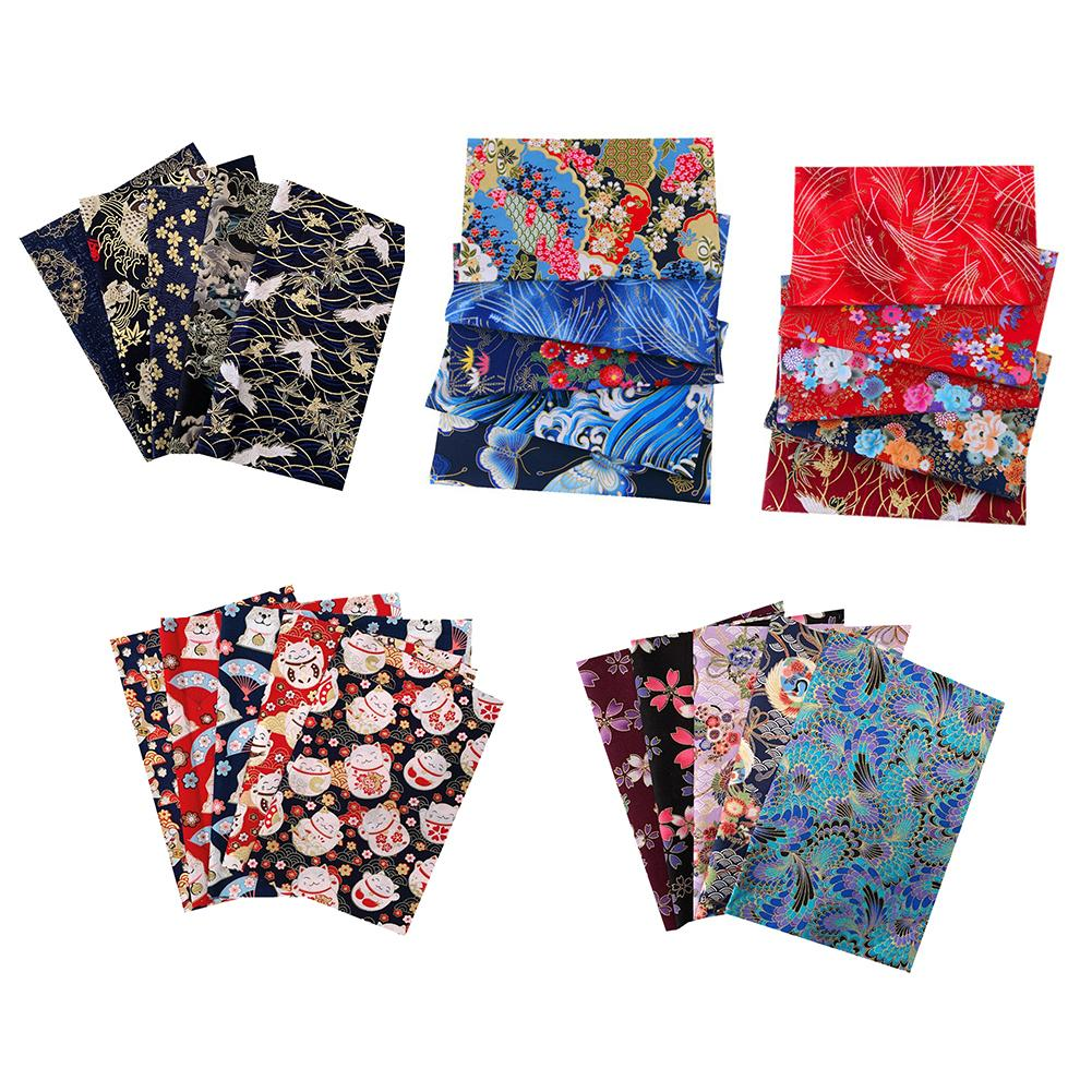 5PCS 20*25CM Cotton Fabric Small Flower Pattern Japanese Style Fabric For Crafts Mask DIY