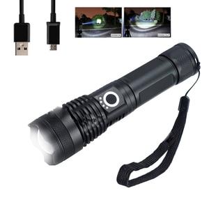 Супер яркий светодиодный фонарик с подзарядкой от USB, телескопический зум, светодиодный прожектор, гибкий растяжимый фонарь, лампа X71 X82 X92 ...