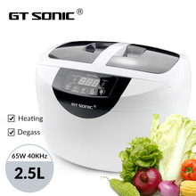 GTSONIC VGT 6250 Digital Ultrasonic cleaner 2500ML for Fruits Vegetables Home Kitchen Ultrasonic Baths