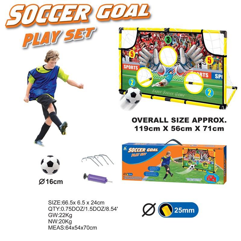 Портативная футбольная дверь для детей, Футбольная дверь для улицы, забивающий блок, тканевая Складная футбольная цель, Детская футбольная ... - 2