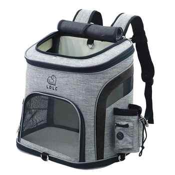Dog Bag Breathable Dog Backpack Large Capacity Cat Carrying Bag Portable Outdoor Travel Pet Carrier L - DISCOUNT ITEM  50% OFF All Category
