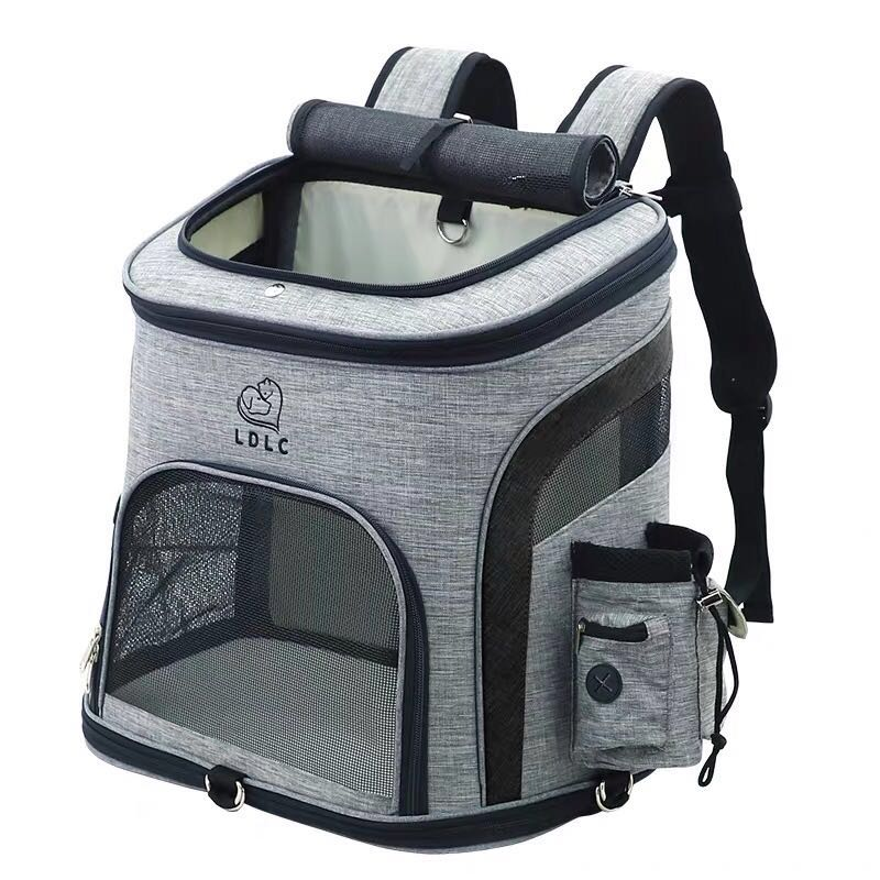 Sac pour chien sac à dos respirant pour chien sac de transport pour chat de grande capacité Portable de voyage en plein air transporteur pour animaux de compagnie L