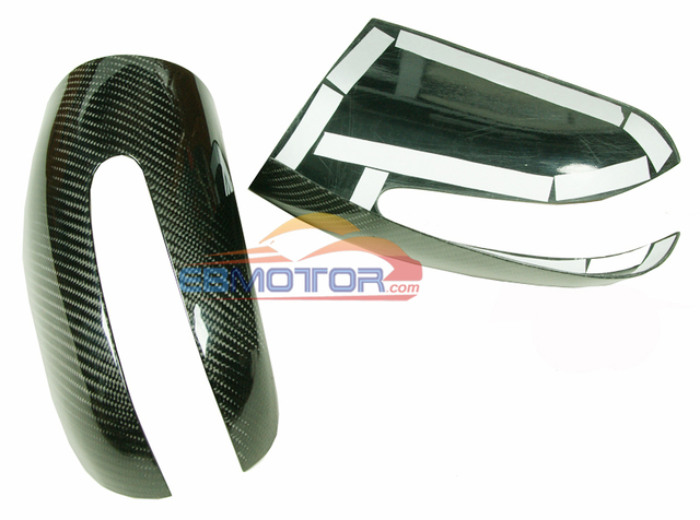 Real Carbon Fiber Mirror cover 1pair for Benz C-Class W203 2001-2006 M097M 5