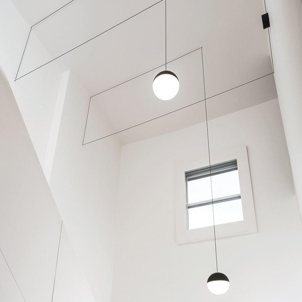 Geometric Pendant Light Meeting Room Hanging Lamp Creative Modern Bedroom Living Corridor Decor Lighting Minimalist Luminaire