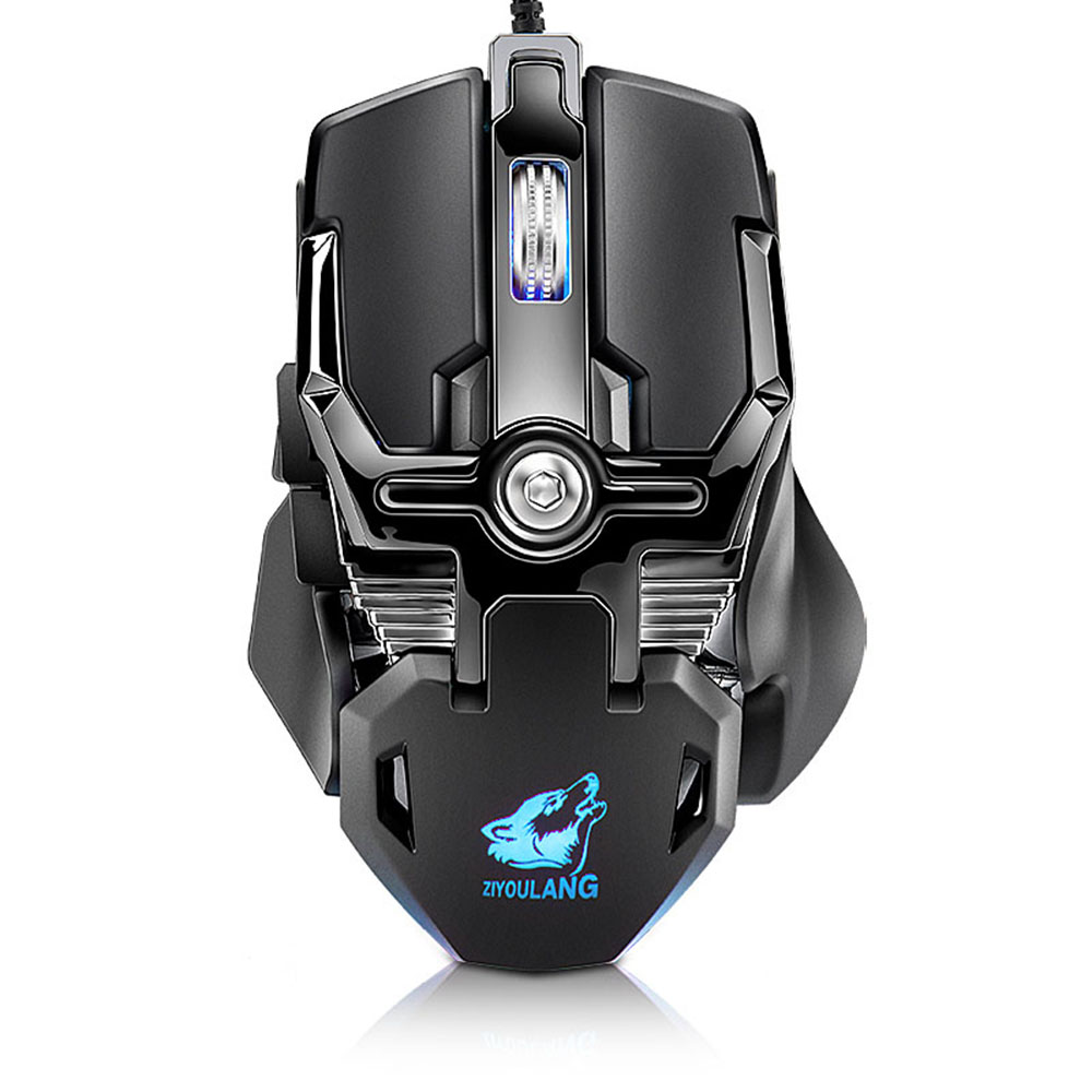 Zerodate LD-MS500 Professional Programmable Gaming Mouse 4000DPI 10 Button Game Wired RGB Mechanical For PC Computer