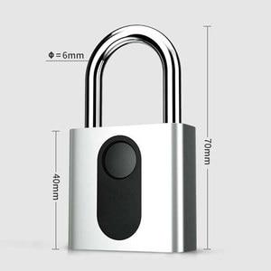 Image 1 - Automatic Fingerprint Lock Nokelock Electronic Padlock Iron Door Locker Luggage Lock Travel Business Office
