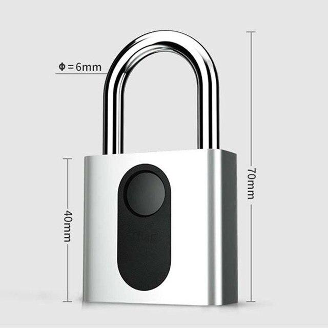 Automatic Fingerprint Lock Nokelock Electronic Padlock Iron Door Locker Luggage Lock Travel Business Office