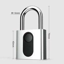 Automatische Vingerafdruk Slot Nokelock Elektronische Hangslot Ijzeren Deur Locker Bagage Reizen Lock Business Kantoor