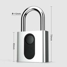 Nokelock cerradura electrónica automática con huella dactilar, candado de hierro para puerta, cerradura de equipaje, para viaje, negocios y oficina