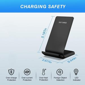 Image 5 - DCAE Qi Wireless Charger Stand for iPhone 11 X XS 8 XR Airpods Samsung S9 S10 Note 9 10W Fast Charge Quick Charging Dock Station