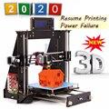 3D-принтер CTC 2020, обновленный, полностью качественный, высокоточный Reprap Prusa i3 DIY 3D принтер MK8 с возобновлением печати после сбоя питания
