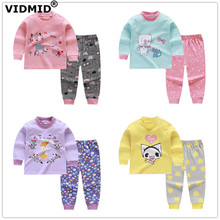 VIDMID autumn Baby Girls Clothing sets Long Sleeve girls Clothes Sets cotton Kids Clothes for girls children #8217 s sets 7086 02 cheap Active Full cartoon O-Neck REGULAR Fits true to size take your normal size Pullover Jackets