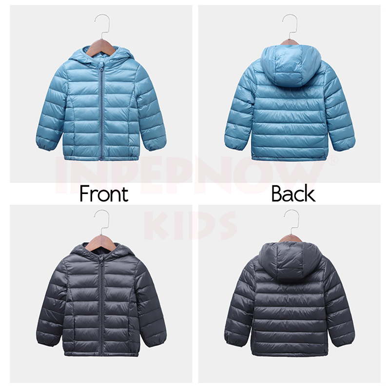 INPEPNOW Children's Down Jacket for Girl Winter Coat Winter Overall for Boy 90% Down Feather Winter Kids Parka for Girls Monkler 3