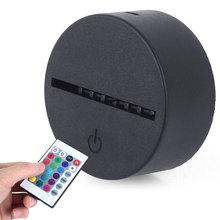 3D светильник с пультом дистанционного управления 5 в постоянного тока, держатель для лампы, сенсорные Цоколи, светильник, светильник, дисплей, для помещений, Романтический, 7 цветов, орнамент