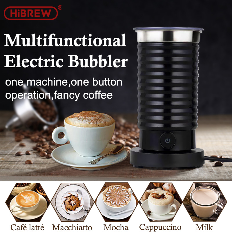 HiBREW MF04 Foaming Milk Machine Cold/Hot Dual Use Full Automatic Household Hot Chocolate Machine 400W EU/UK Plug