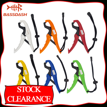 Bassdash Stock Clearance Floating Fish Gripper with Wrist Lanyard ABS Plastic Fish Lip Gripper