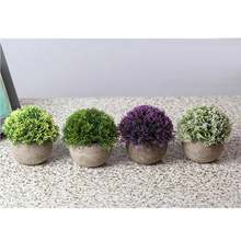 Лидер продаж искусственные пластмассовые растения в горшке разноцветные