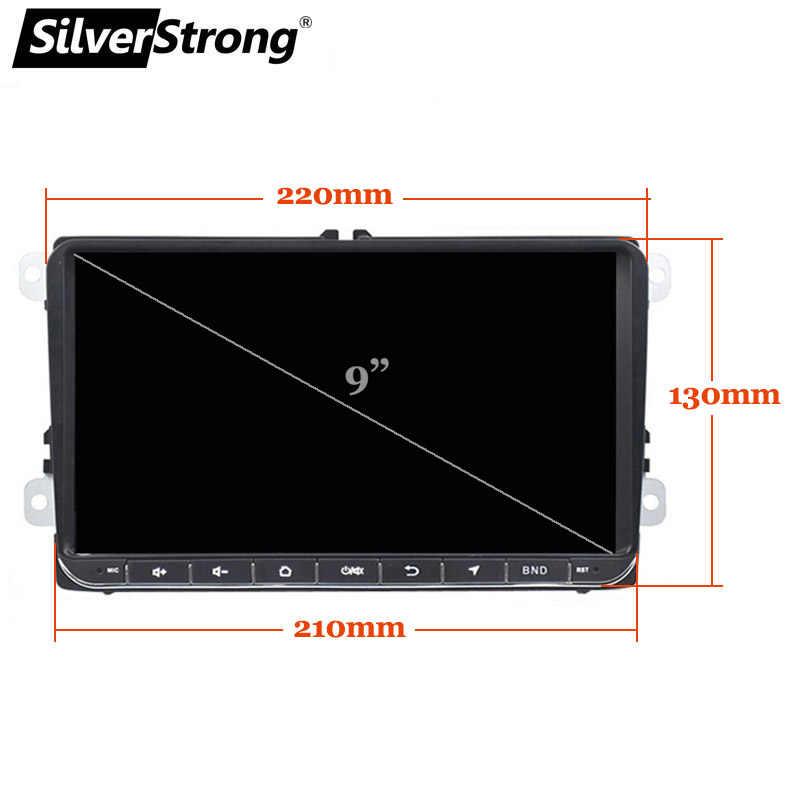 SilverStrong 9 インチ IPS マトリックス Android9.0 車の DVD Vw パサート mk5 ため Golf6 ポロアンドロイドラジオ RDS TPMS-902BM3