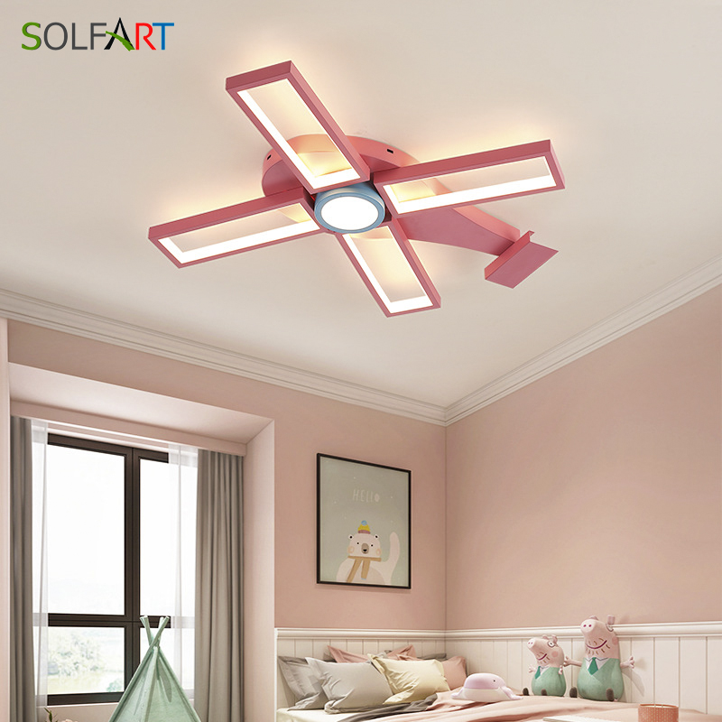 Modern Led Ceiling Lights For Living Room Kitchen Bedroom Kids' Room Dimmable Lamp Art Deco Fixture With Remote Control|Ceiling Lights| |  - title=