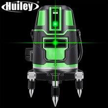 Niveau Laser 2/3/5 lignes croisées à nivellement automatique, 360 ° rotatif, pour l'intérieur et l'extérieur, rayons verts alternatifs, projection directe, horizontale et verticale
