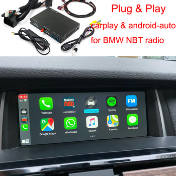 CarPlay Wireless iOS for BMW X5 M E70 F85 X6 M E71 F86 Z4 E89 NBT ID4 Style 2013-2016 Android Auto AirPlay image