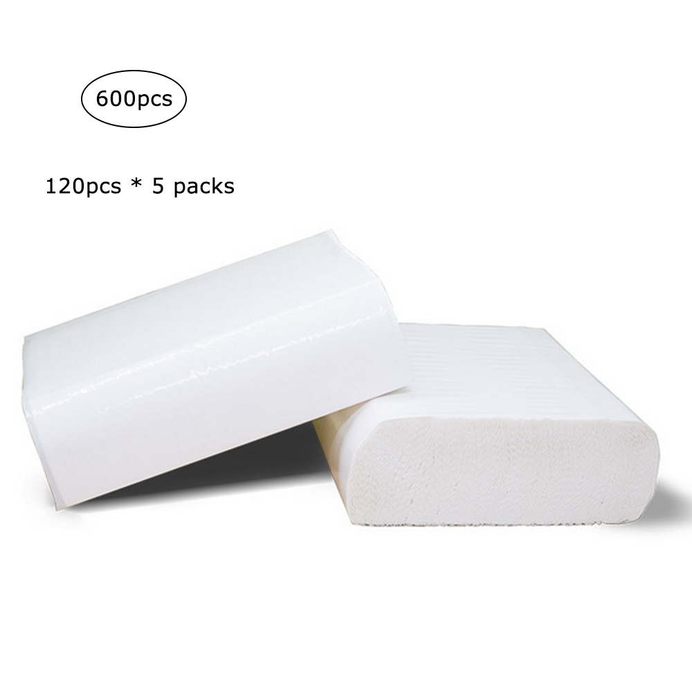 5 Packs Pumping Paper Napkin Skin-friendly Bathroom Kitchen Toilet Pumping Tissue Papers Daily Use DegradableToilet Papers White