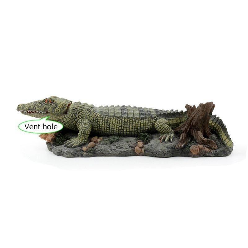 Décoration d'aquarium-ornement d'action aérée-Crocodile d'aquarium
