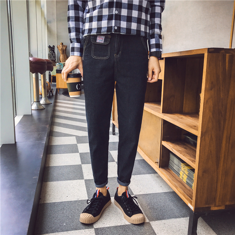 2017 Spring Summer New Style MEN'S Jeans MEN'S Black Casual Long Pants Loose And Plus-sized Men's Trousers