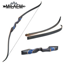 56 inch American Hunting Bow Blue Laminated Fiberglass Wooden Recurve 20/25/30/35/40/45/50 lbs Traditional Long