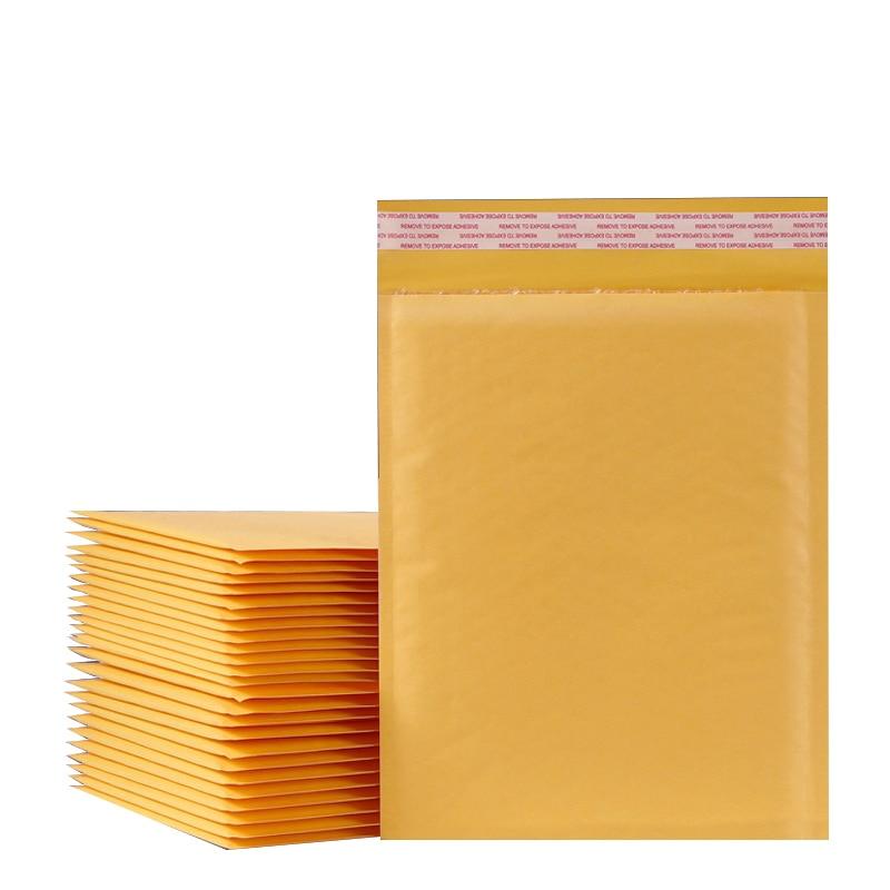 10PCS/15 Sizes Kraft Bubble Envelopes Paper Padded Mailers Shipping Packaging Envelope Mailing Courier Postal Storage Encelopes