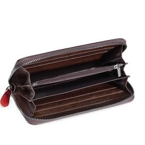 Image 3 - 本革の女性の財布ロングクラッチ花レディース財布と財布女性rfidカードホルダーコイン財布女の子