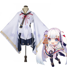 купить Anime Hatsune Miku Cosplay Costumes Snow Miku Cosplay Costume Kimono Halloween Party Game Women Yukata Cosplay Costume дешево
