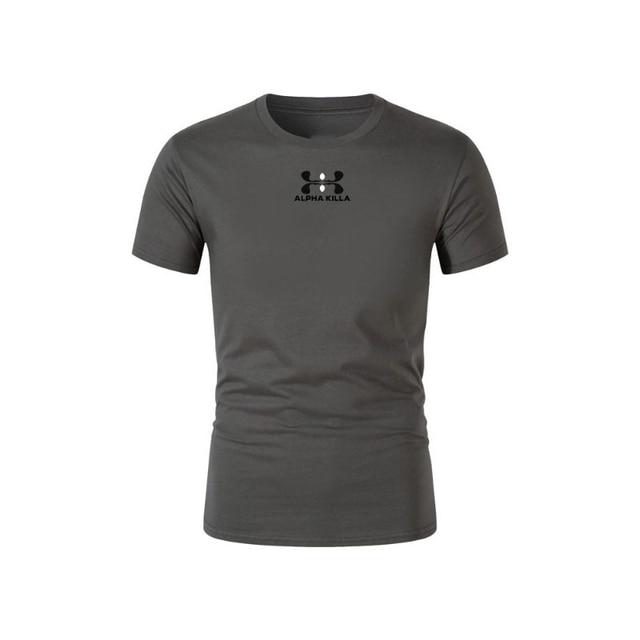 2021 Summer Brand Printed T-shirt Men Casual Men's T-shirt Multicolor Sleeve Casual T-shirt Top Standard Size XS-2XL