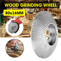 80mm Extreme Shaping Disc 16mm Bore Tungsten Carbide Wood Carving Disc Grinder Disc for 100 115 Angle Grinder Woodworking Tool