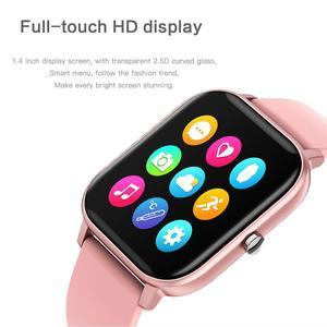 Image 3 - ساعة P8 pro متصلة ، شاشة تعمل باللمس 1.4 بوصة عالية الدقة ، درجة حرارة الجسم ، وضع رياضي متعدد ، جهاز تعقب للياقة البدنية P8T