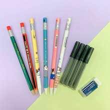 Ensemble de crayons mécaniques 2.0mm 2B, pour dessin, activité d'écriture, avec recharge, papeterie scolaire et de bureau Kawaii, lot de 4/27 pièces