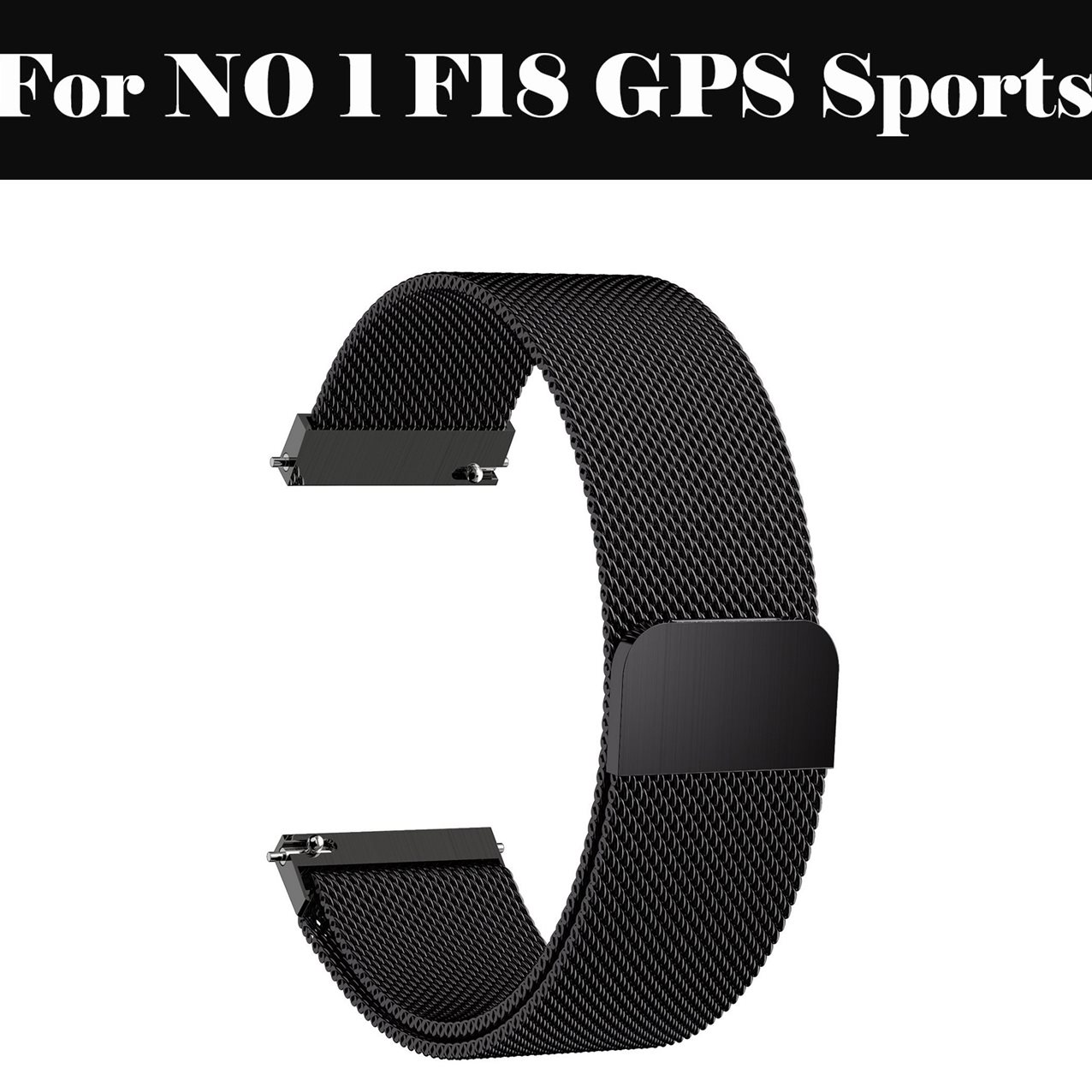 Milanese Loop strap Watch band 14mm 16MM 18MM 20MM 22MM Stainless Steel Bracelet For NO 1 F18 GPS Sports image