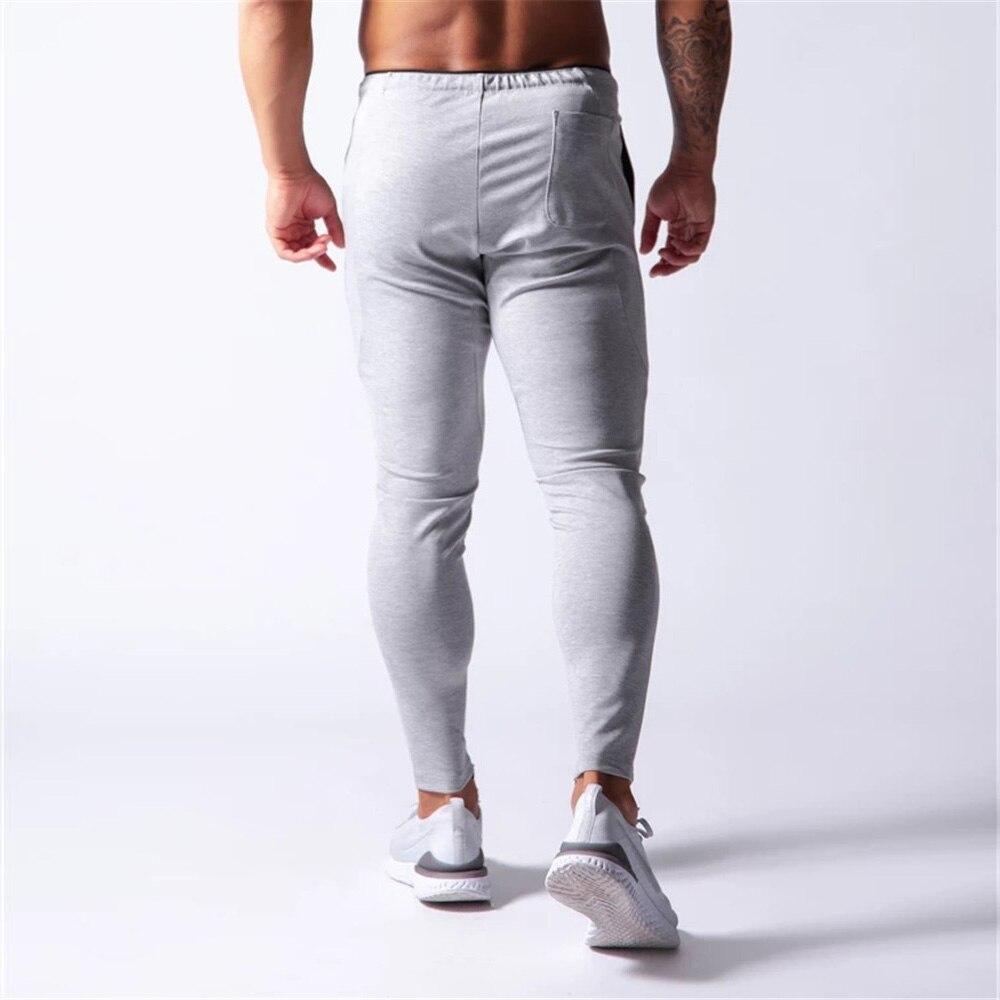 New Jogging Pants Men Sport Sweatpants Running Pants Men Joggers Cotton Trackpants Slim Fit Pants Bodybuilding Trouser 20CK01-2 5