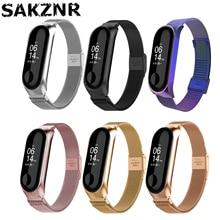 Replacement-Watchband Watch-Bracelet Mi-Band Xiaomi Stainless-Steel 3-Strap Metal